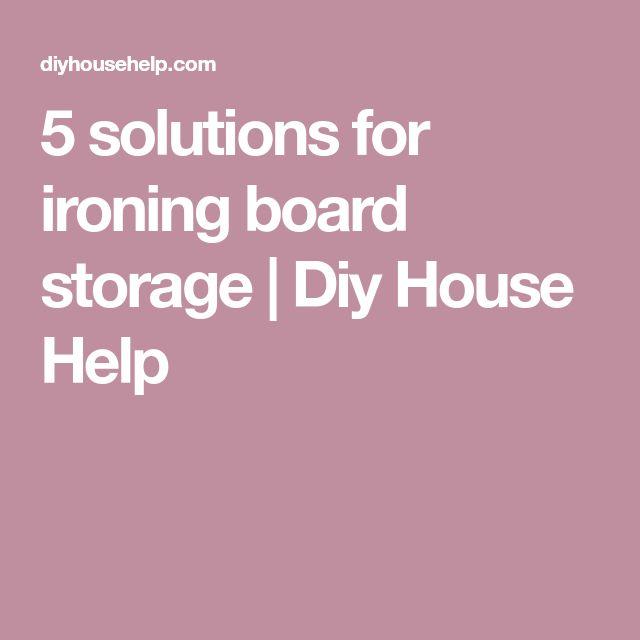 Drop down ironing board storage ideas