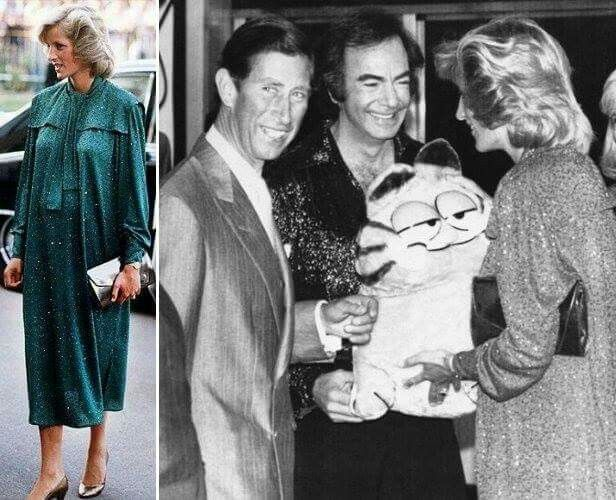 5 July, 1984  Beautiful Princess Diana pregnant with Prince Harry with Prince Charles attend a Neil Diamond Concert, in aid of the Prince's Trust, at the National Exhibition Centre, Birmingham.