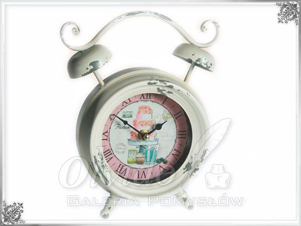 Zegar w stylu shabby chic