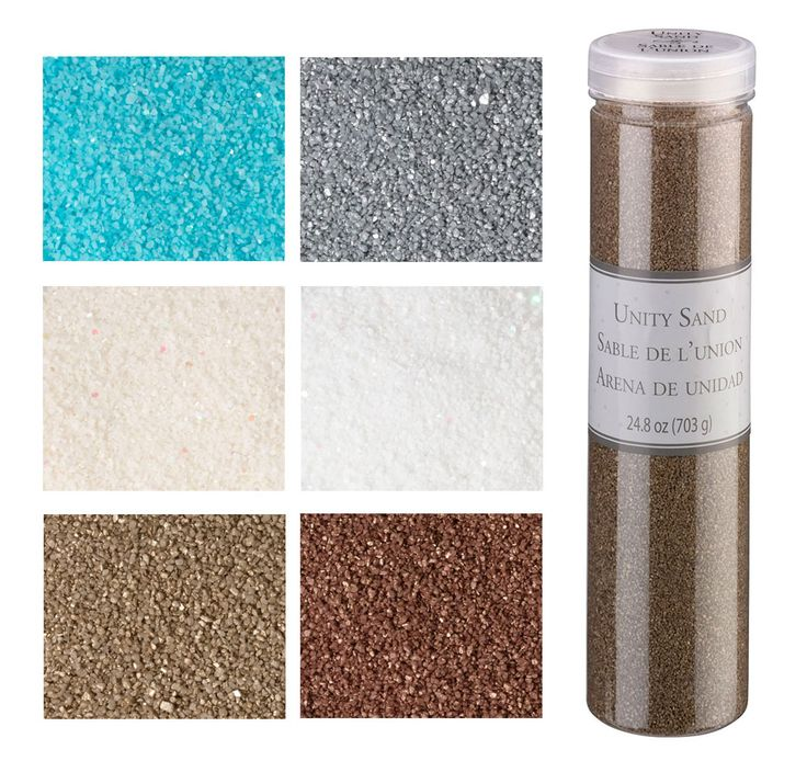 Glitter Wedding Sand will add some shimmer to your wedding sand ceremony.