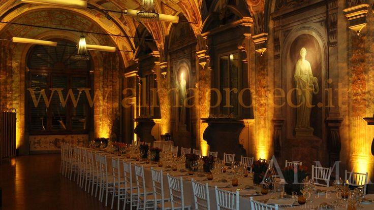 ALMA PROJECT @ Villa Corsini - Galleria Pandolfo - uplights battery led - amber 043