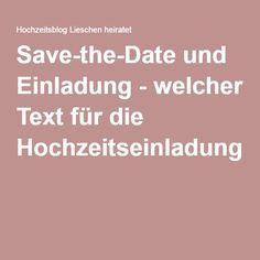 Save-the-Date und Einladung - welcher Text für die Hochzeitseinladung?