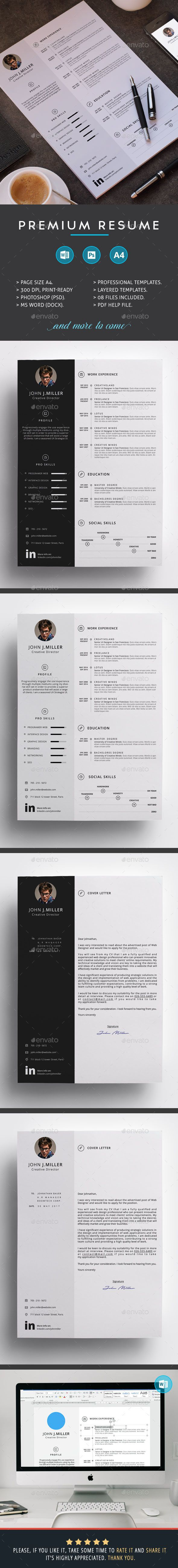 Premium Resume Resumes Stationery Download here