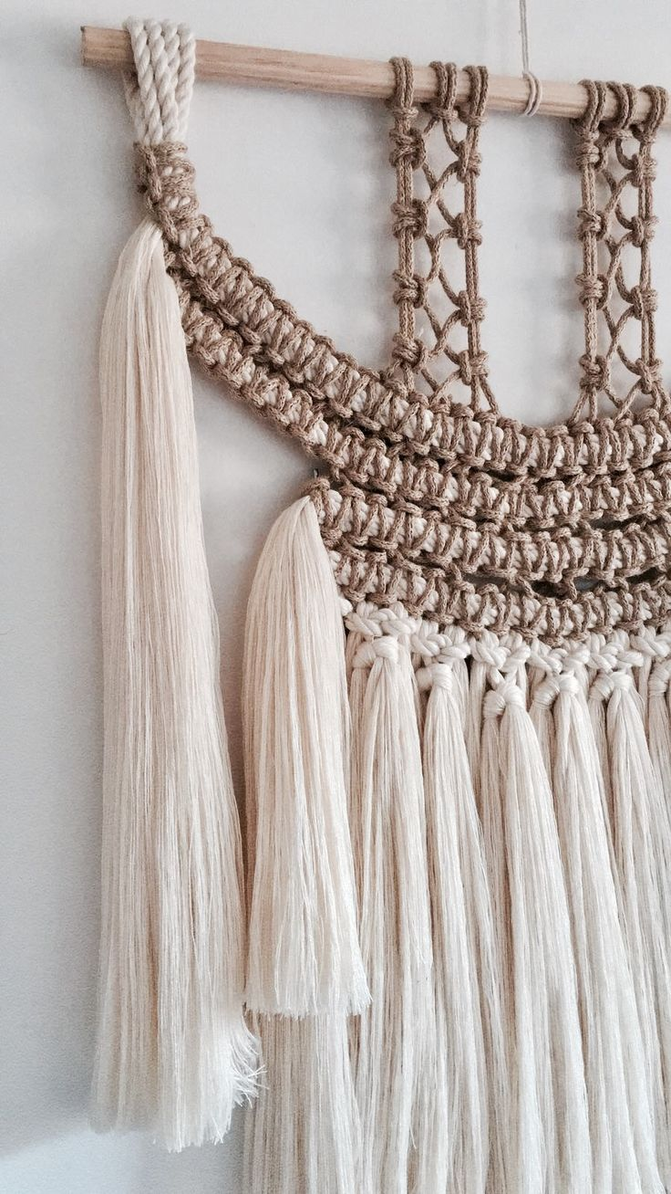 Ethnic macrame wallart inspired by the Mexican indigenous by Belen Senra