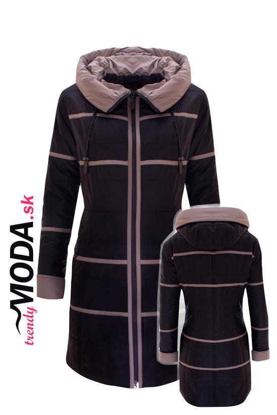 Dokonale padnúca a precízne ušitá dámska zimná bunda v číslach aj pre moletky. - trendymoda.sk