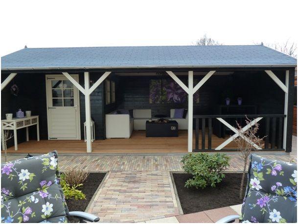 Tuinhuis Linge met veranda en klein inpandig tuinhuis