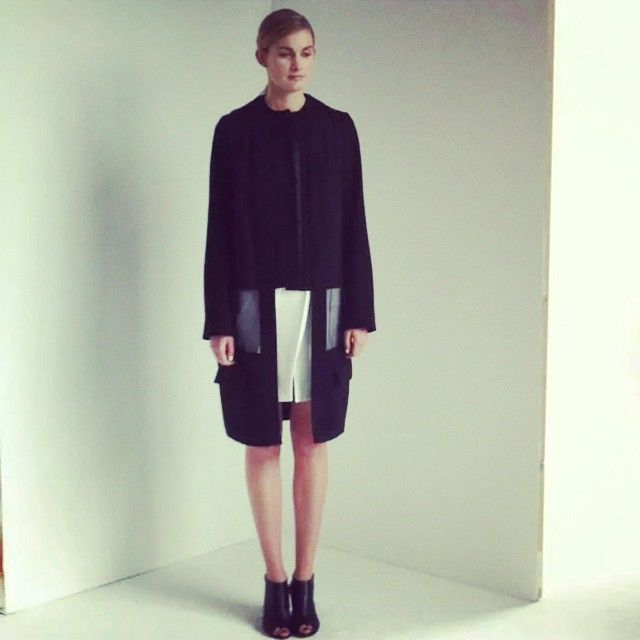 SS15 and Wool Organza Coat