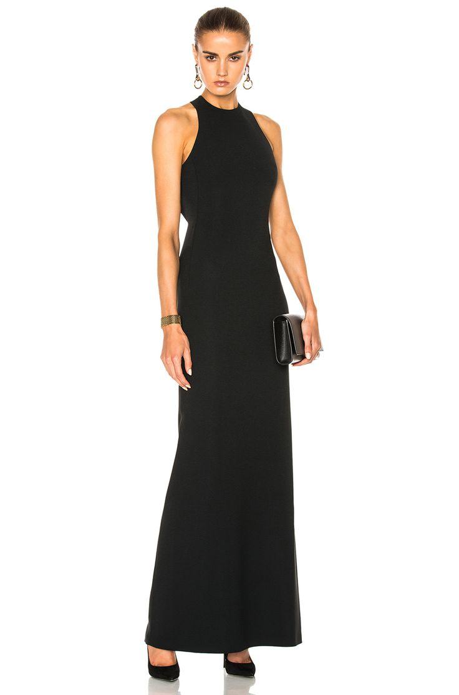 CALVIN KLEIN COLLECTION Kaye Long Cross Back Evening Dress. #calvinkleincollection #cloth #