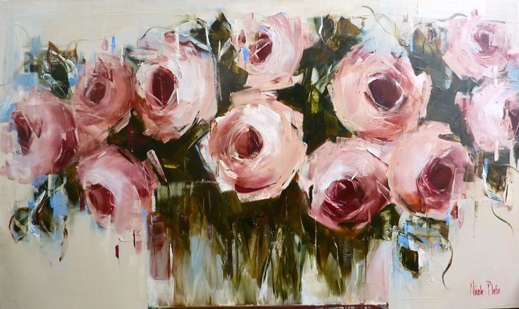 Pink roses 91x152cm Nicole Pletts