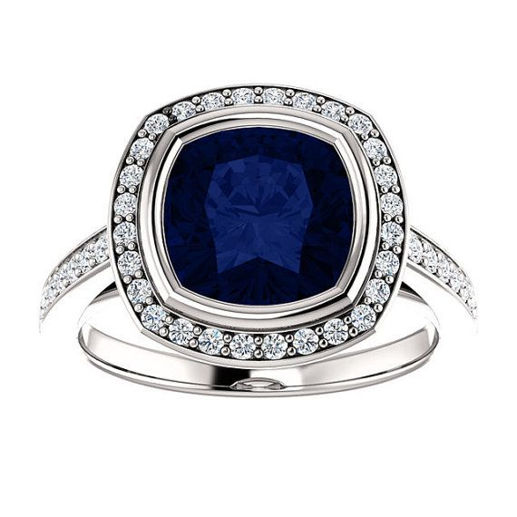Gatsby Halo Solitaire with 2.4ct AAA by FineJewelryByGrace on Etsy