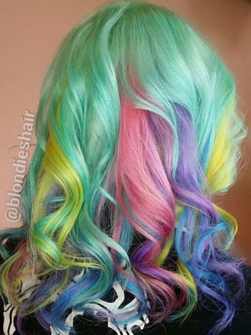 pastel rainbow hair ideas