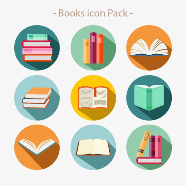 Flat Variety Of Books Vector Icon Icon Vector Reading Book Png And Vector With Transparent Background For Free Download Book Icons Library Icon Book Logo