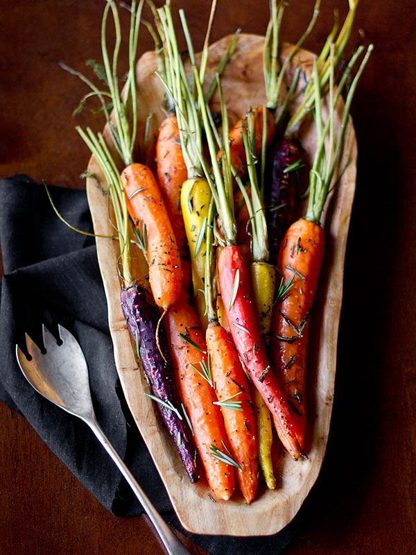 These Easter roasted rosemary carrots are a cinch to make: Just season, bake and serve!