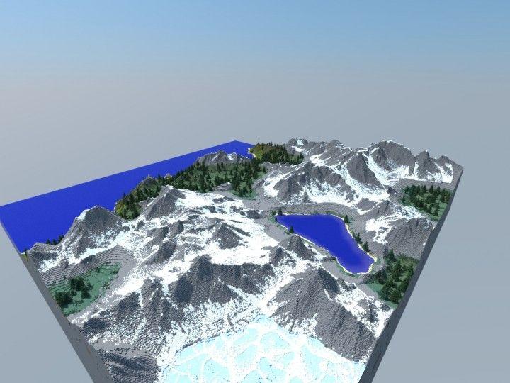 25 unique minecraft maps download ideas on pinterest minecraft epic 1000x1000 mountainous terrain map download custom terrain minecraft project its a sciox Images