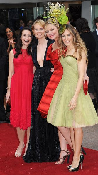 (L-R) Kristin Davis, Cynthia Nixon, Kim Catrall and Sarah Jessica Parker attend the World Premiere of 'Sex And The City' held at the Odeon Leicester Square on May 12, 2008 in London, England.