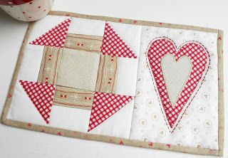 Welcome the love into your home with a Heart Mug Rug.