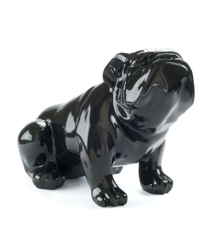 Statue Bouledogue Noir - Sculpture Animal Decoratif en resine - 53 x 29 x 35 cm Description du modèle :Bulldog anglais, assis, couleur noir, verniCaractéristiques :Référence du modèle : ART111Marque : AnimartdecoDimensions : 53 x 29 x 35 cm (Longueur x hauteur x largeur)Poids : 4,20 Kg