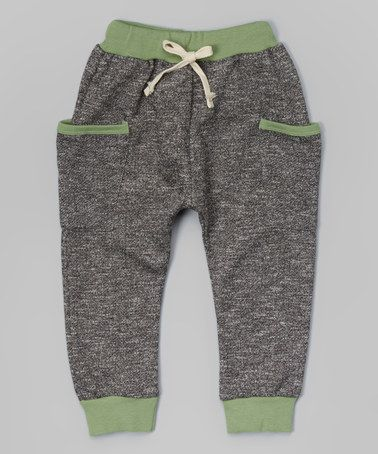 Another great find on #zulily! Gray & Green Jogger Pants - Infant, Toddler & Kids #zulilyfinds