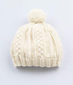 Padrão de cabo Hat - Free Knitted Pattern - (joann.lionbrand)
