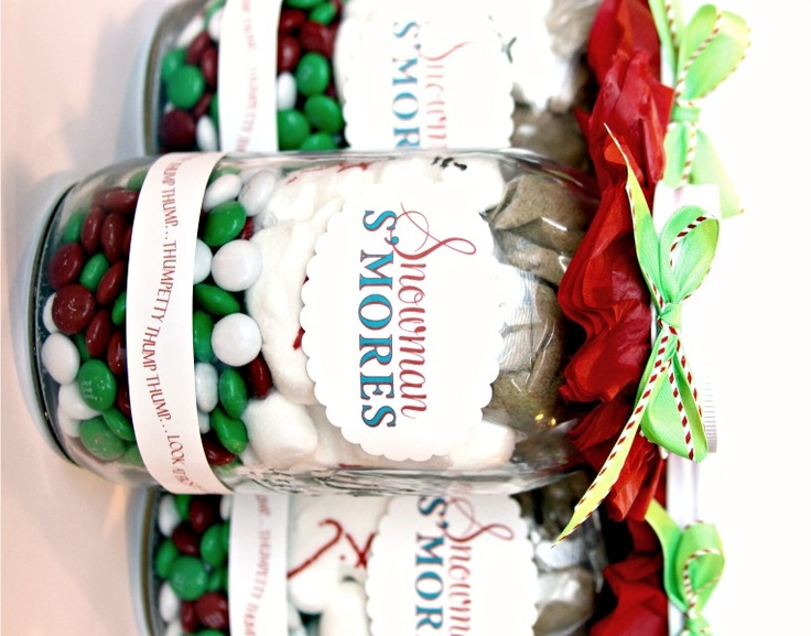 164 best spreading christmas cheer gifts wrap and other cheer snowman smores love this in the mason jar what a great neighbor gift negle Images