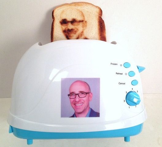 Yep. You can now put your face on a bread. or see this too - A Waterproof Splashtablet Case sticks to Cabinets, or Shower! A great #giftidea at $41.95 w/Free EXPEDITED Shipping at http://splashtablet.com/pinterest2014.cfm or on Amazon.com Order Today!