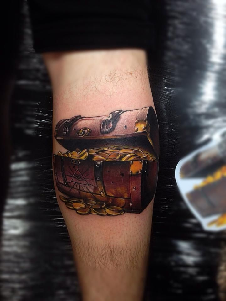10 best images about treasure chest tattoo ideas on for Chest tattoo prices