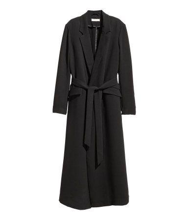 Langer Mantel | Schwarz | Damen | H&M DE