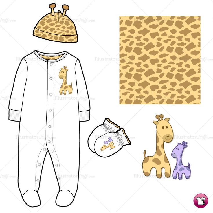 Infant Sleep and Play Fashion Flat Template  $2.49 #illySTUFF