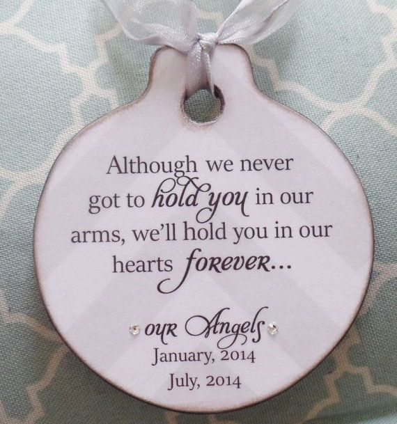 Personalized Christmas Ornament Miscarriage by OhNoAvocado on Etsy