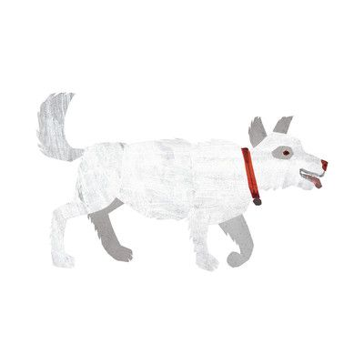 White Dog By Eric Carle Painting Print On Wrapped Canvas