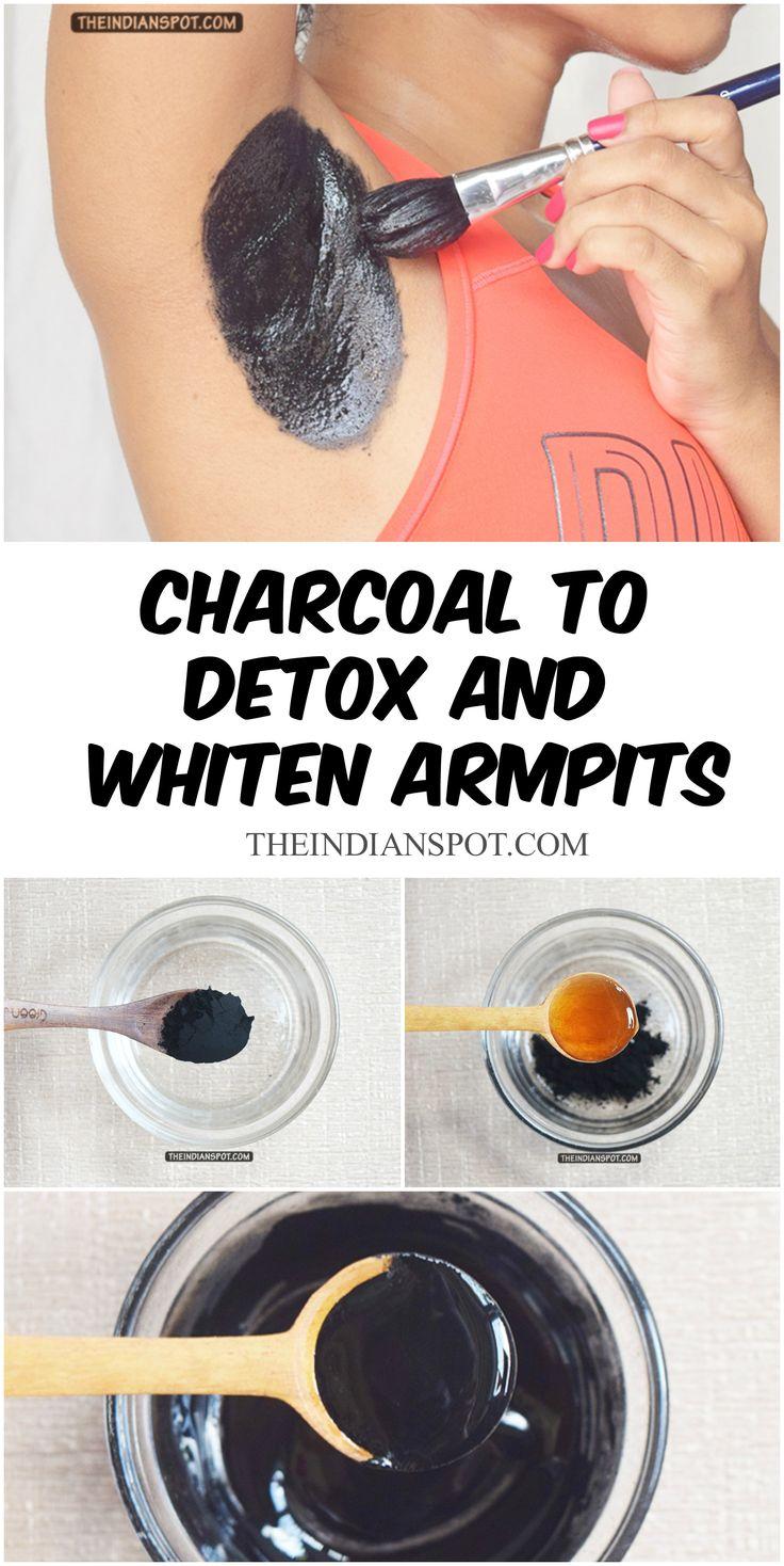 DIY charcoal to detox ans whiten armpits