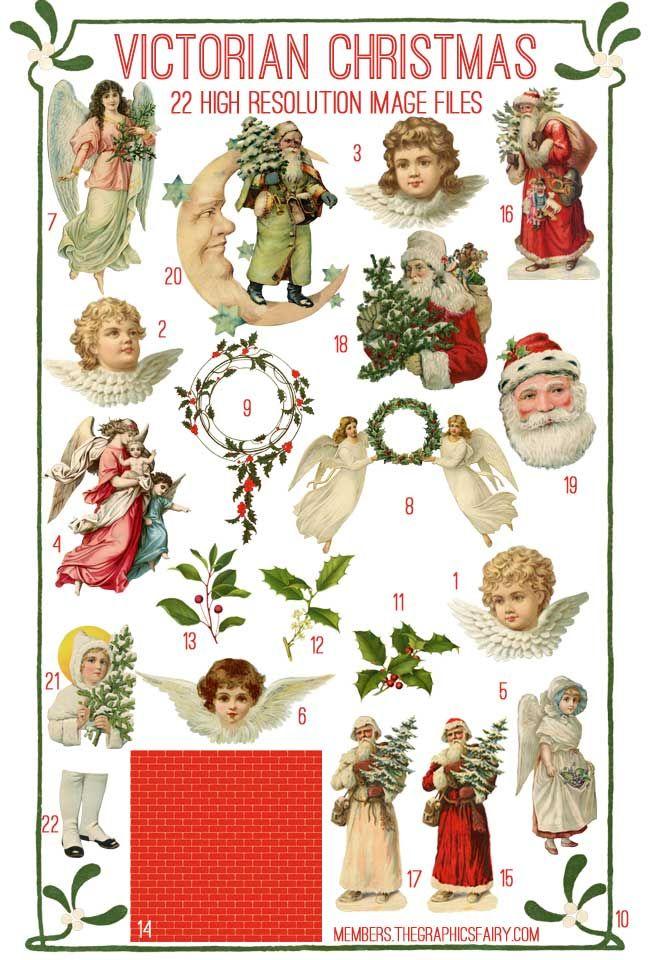 Victorian Christmas Kit - TGF Premium! - The Graphics Fairy