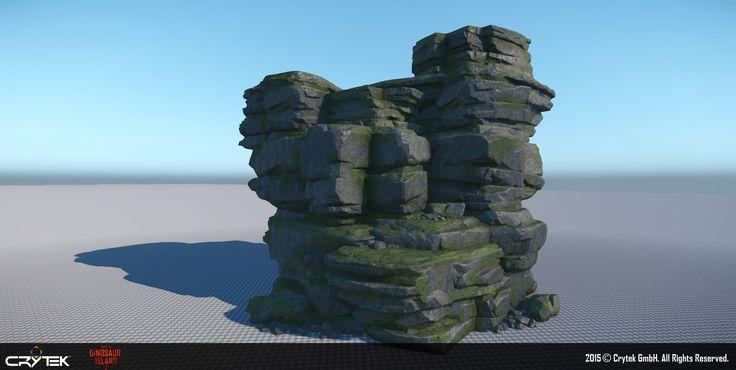 Back to Dinosaur Island Demo - Rock assets, Robert Stephens on ArtStation at https://www.artstation.com/artwork/back-to-dinosaur-island-demo-rock-assets