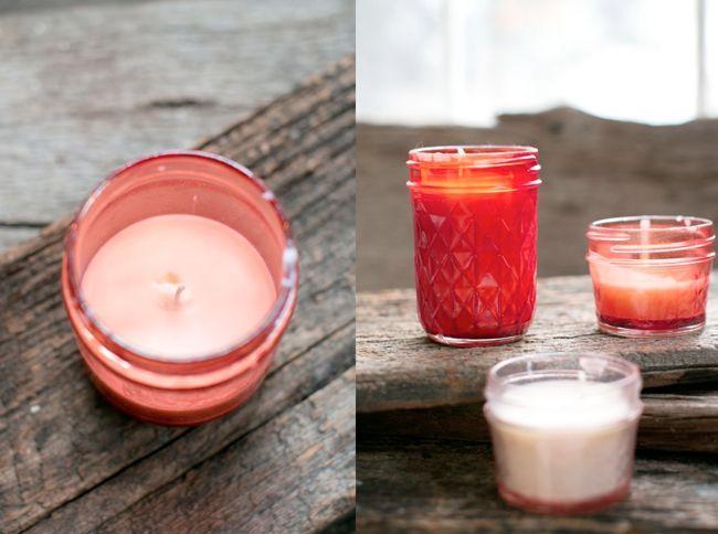 DIY Pink Mason Jar Candles - Henry Happened
