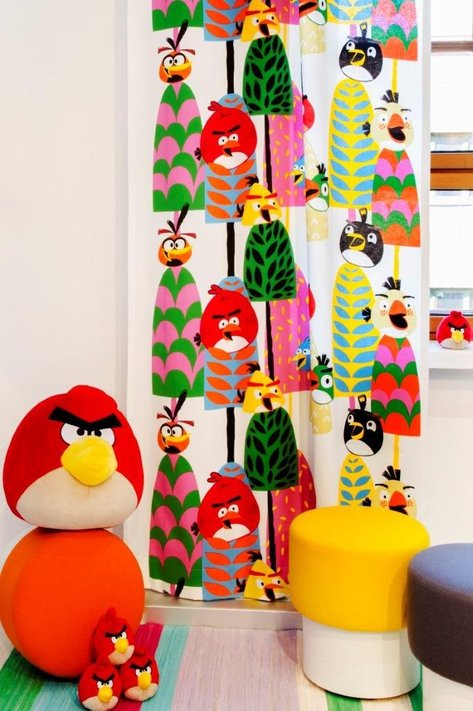 """Forest"" curtain,140 x 250 cm - Angry Birds Interior Collection by Vallila"