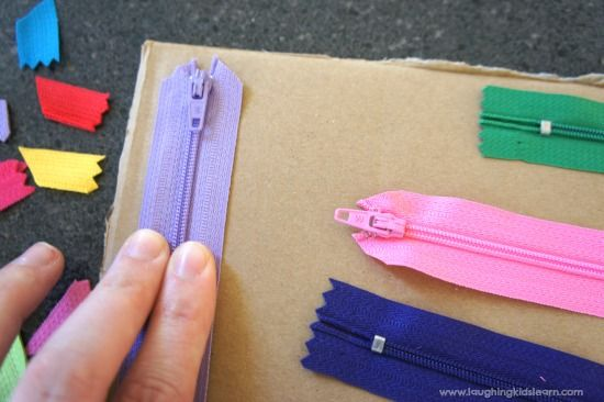 DIY sensory board for toddlers and babies