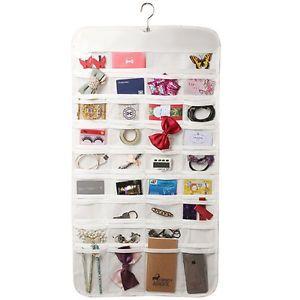 Organizzatore Organizer Di Gioielli da Appendere Doppio Lato 72 Tasche Jewellery   eBay