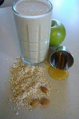 Avena y manzana para bajar el colesterol.
