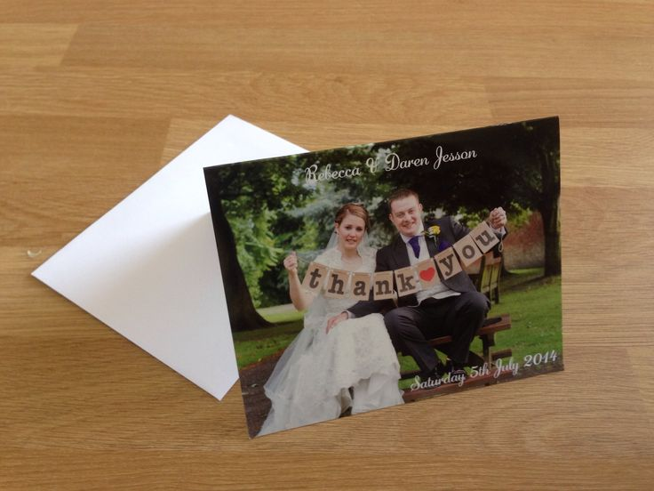Wedding Guests received a 'Thank You' card for there generous gifts.