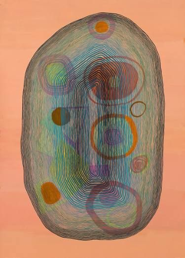 "Saatchi Art Artist Jenny Kemp; Painting, ""Concentricity 1"" #art"