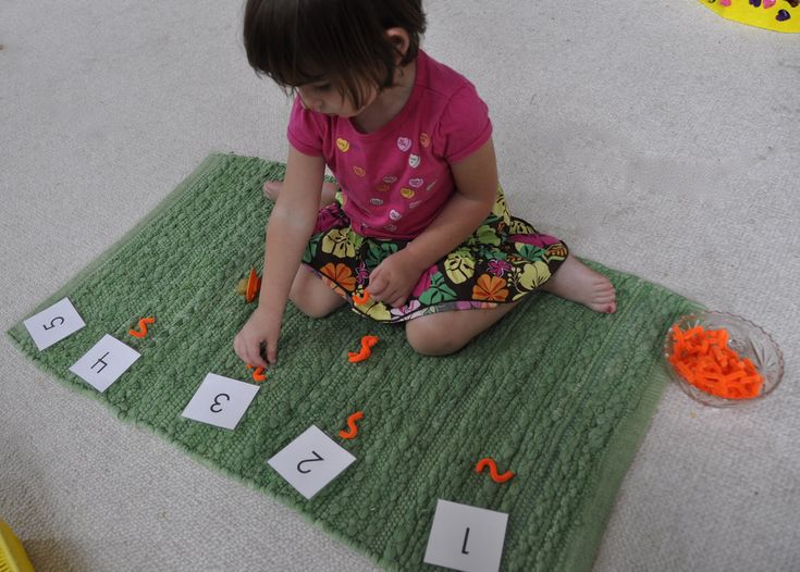 Counting with pipe cleaner snakes