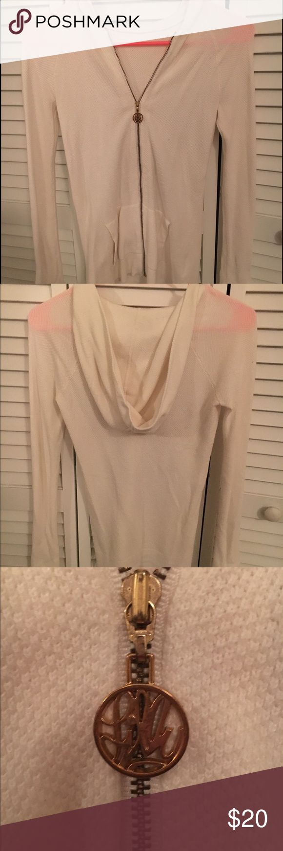 Lilly Pulitzer Josephine Zip Up Hoodie Cream zip up hoodie. The Lilly Pulitzer Tag fell off due to loss of stitching. Been worn twice. Is an XS but runs small. Lilly Pulitzer Jackets & Coats