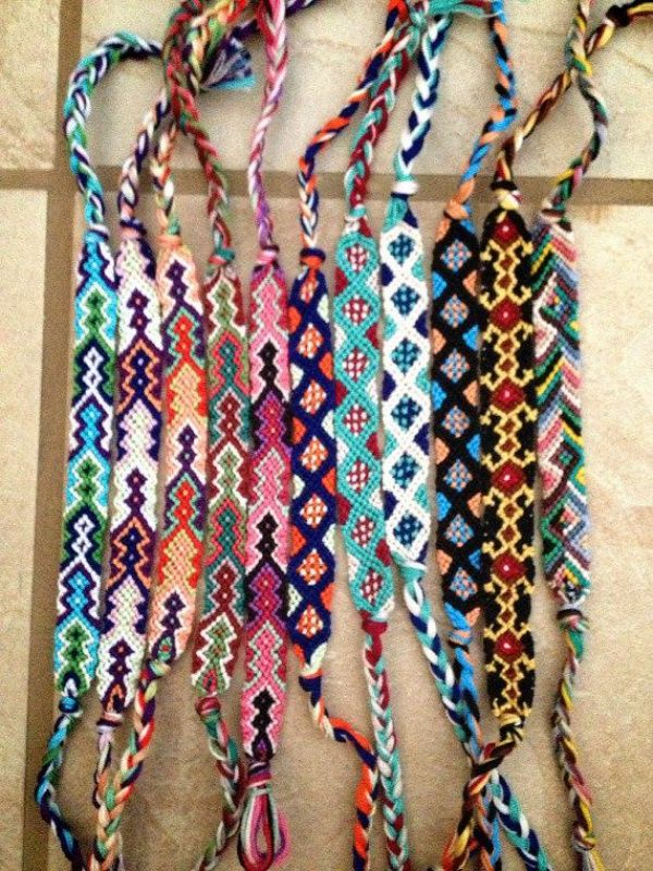 Friendship bracelets! Love these!