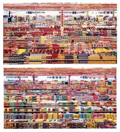 "The artwork 99 Cent II Diptychon from 2001 is a two part photograph made by Andreas Gursky probably in 1999, as the work is sometimes called ""99 cent.1999""."