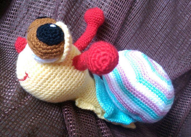 snail  stuffed snail  stuffed toy  toy baby  stuffed animal  hand made, crochet…