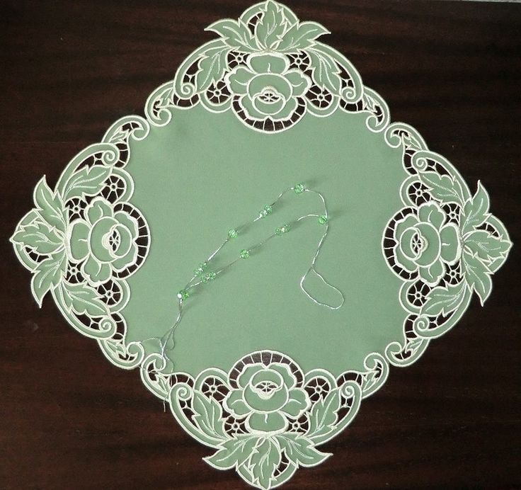 Square Doily embroidery design. Cutwork embroidery