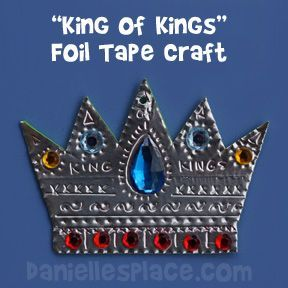 Crown Craft - King of Kings Foil Bible Craft for Sunday School from www.daniellesplace.com