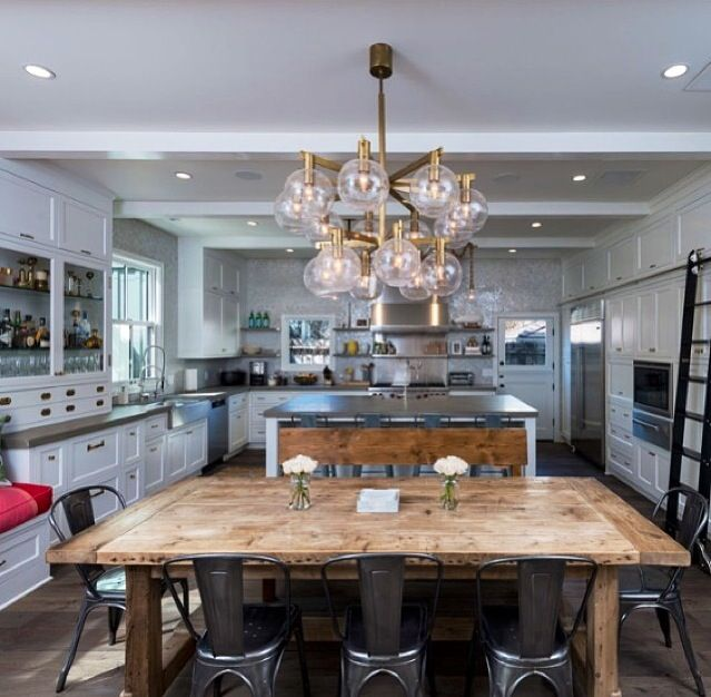Contemporary Kitchen Dining Room Designs: Rustic Glam Kitchen!! Love This