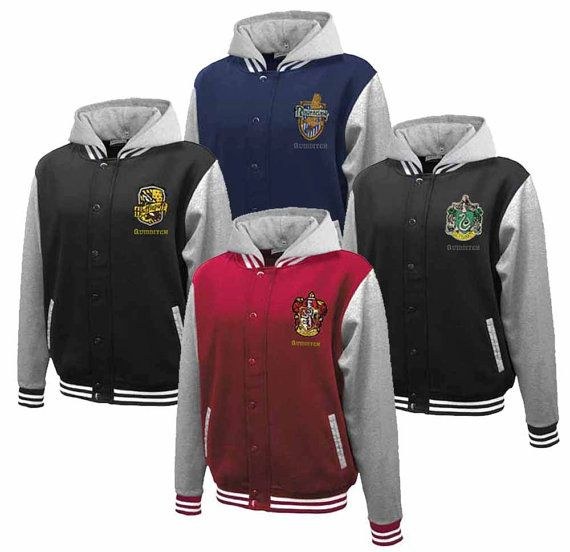 Hogwarts House Fully Custom Quidditch Varsity Jacket by Hanavas, AHHHHHHHHH!!!! NEED THE RAVENCLAW  ONE!!!!