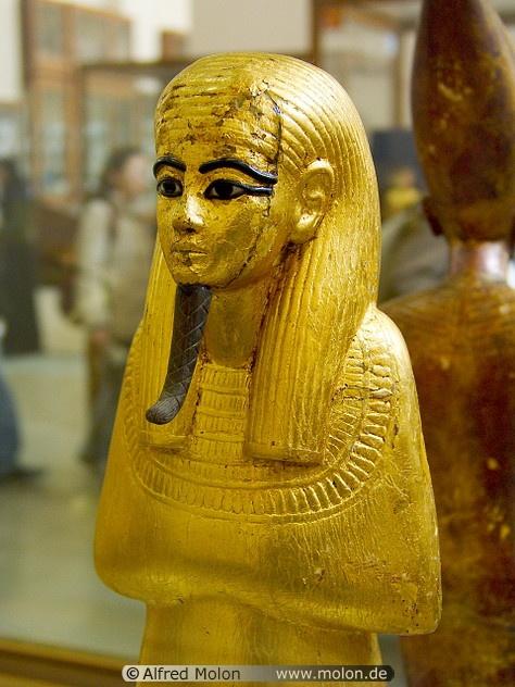 Golden statue,Ancient Egyptian.